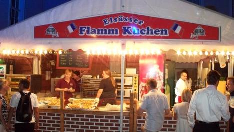 Flammkuchen uaf dem Gauklerfest Berlin