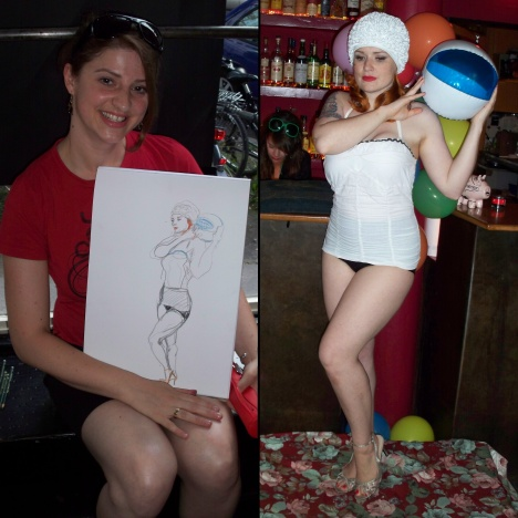 Golden Treasure & Dr. Sketchy's Anti Art School Hamburg