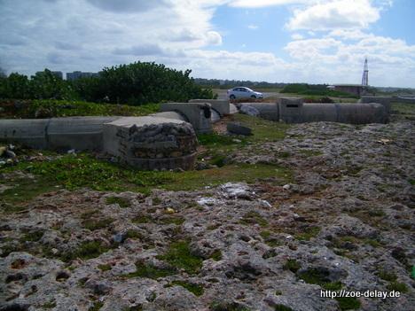 bunkeranlagen am Strand bei bei havanna