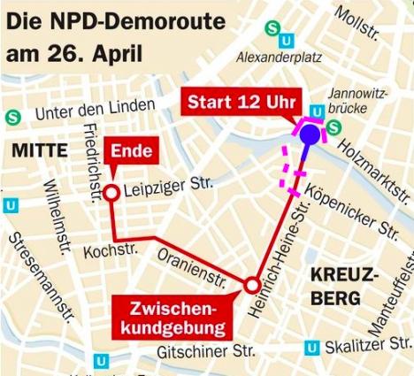 NPD Demo Kreuzberg ist und soll